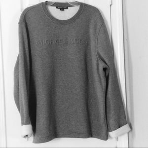 NWT - Michael kors ash melange crew neck sweater